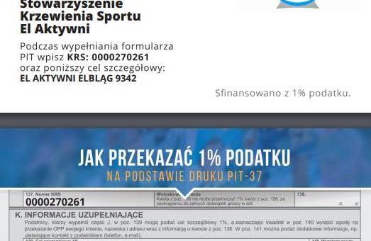 Przekaż 1 procent z podatku na SKS EL Aktywni!